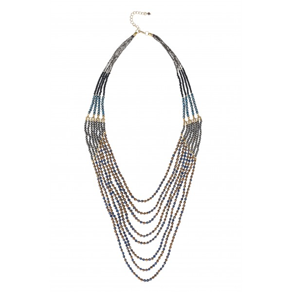 Evie Necklace - blue
