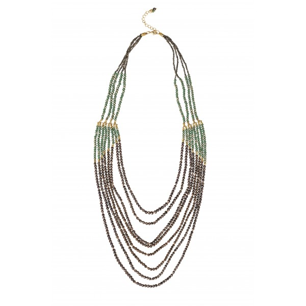 Evie Necklace - green