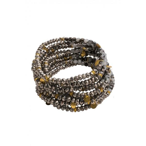 Nora Stretch Bracelet-Silver